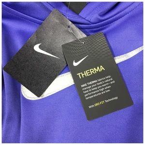 Nike Shirts & Tops - Nike Girls Therma Hoodie in Purple Silver Glitter